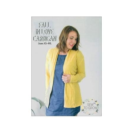 Sew To Grow Fall In Love Cardigan Sz XS-4XL Ptrn ()