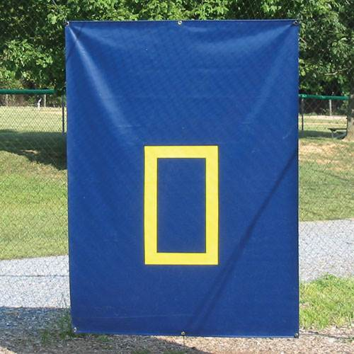 30 oz. Cage Saver in Navy with Yellow Zone