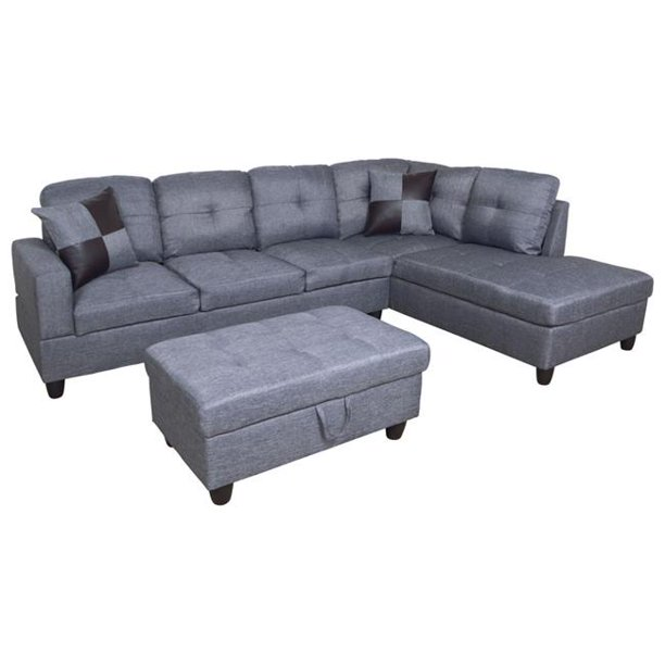 All You Can Purchase Furniture F128B L Shape Sectional Sofa
