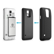 Samsung Galaxy S5 Battery Combo, TechOrbits 5600mAh Extended Battery Combo for Samsung Galaxy S5 - TPU Back Cover Included [3 Year Warranty]