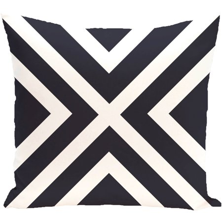 """Simply Daisy 16"""" x 16"""" """"X"""" Marks the Spot Stripes Print Outdoor Pillow"""