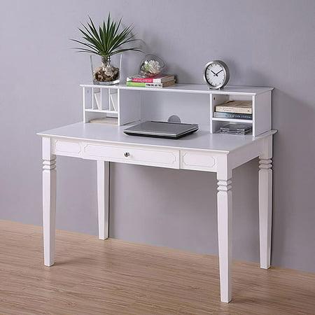 elegant wood desk with hutch white. Black Bedroom Furniture Sets. Home Design Ideas
