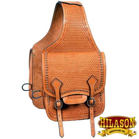 Horse Western Saddle Bag Leather Cowboy Trail Ride Light Oil Hilason
