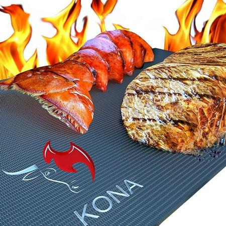 Kona Xl Best Grill Mat   Bbq Grill Mat Covers The Entire Grill   Premium Non Stick 25X17