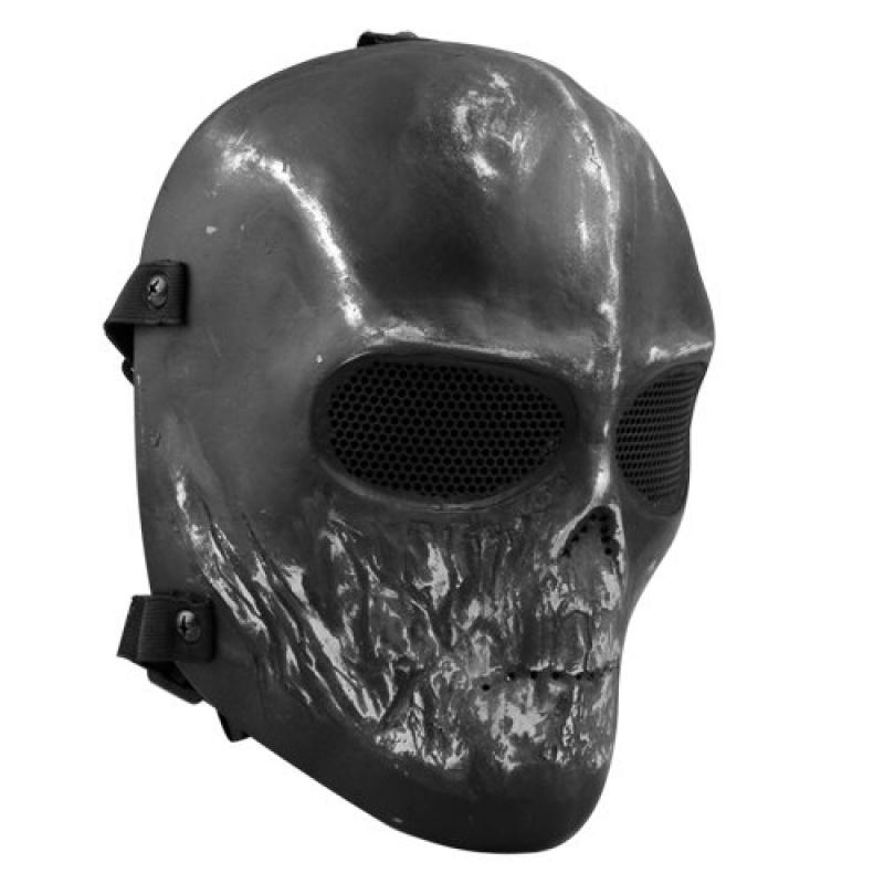 Easy Provider Skull Airsoft Paintball Hunting Full Face Protect Mask Mesh Goggle by