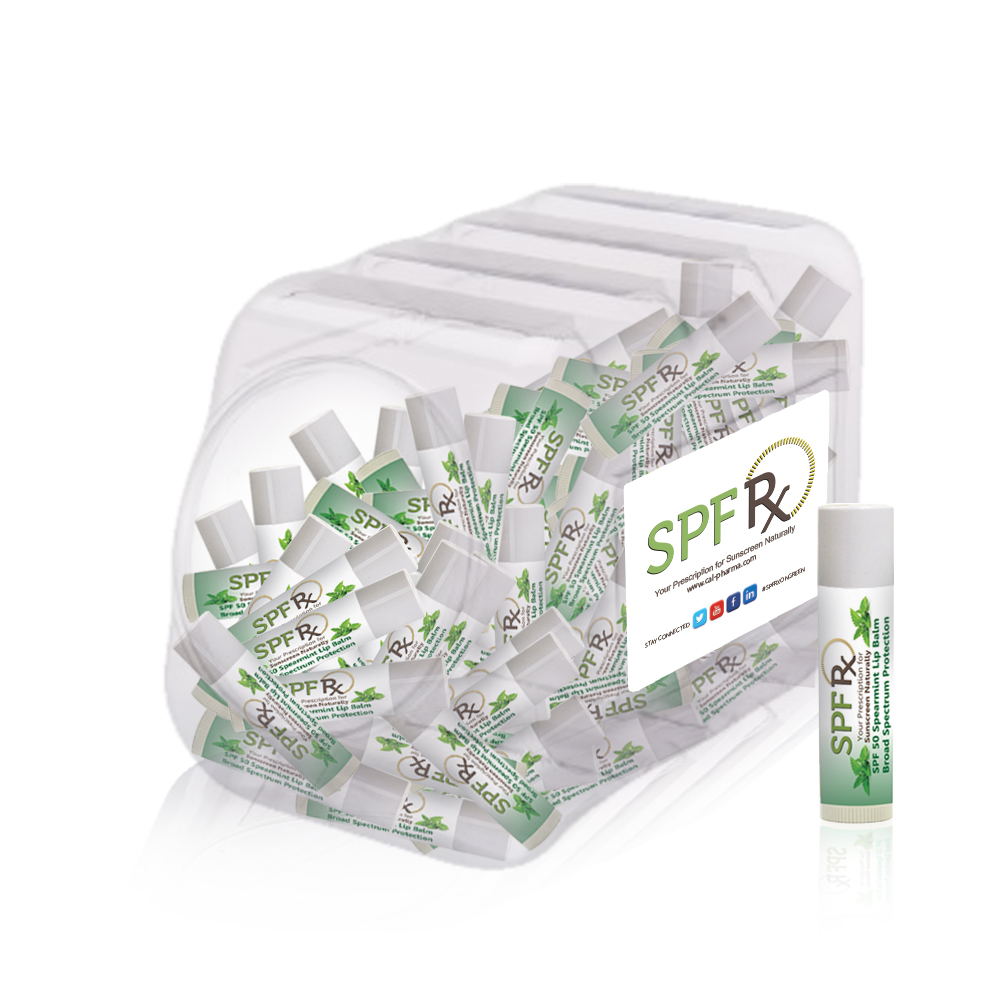 SPF Rx, Spearmint Vitamin E Lip Balm, 0.15 oz (100-pack)