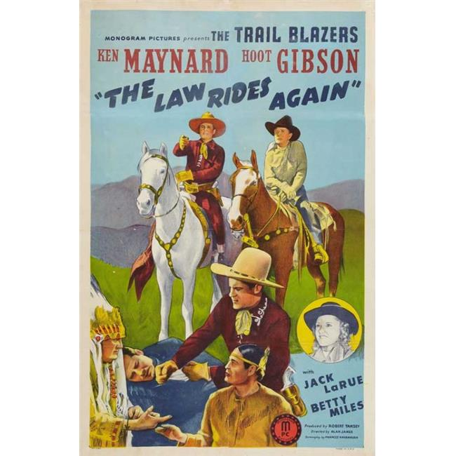 Posterazzi MOVGB79553 The Law Rides Again Movie Poster - 27 x 40 in. - image 1 of 1