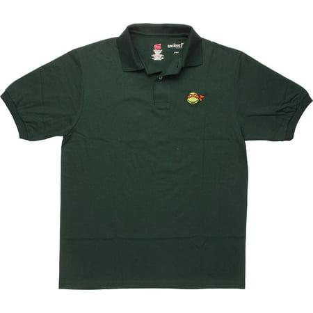 Ninja Turtles Michelangelo Face Polo Shirt (Ninja Turtle T Shirt)
