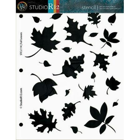 Harvest Stencil - Fall Leaves - 8 1/2
