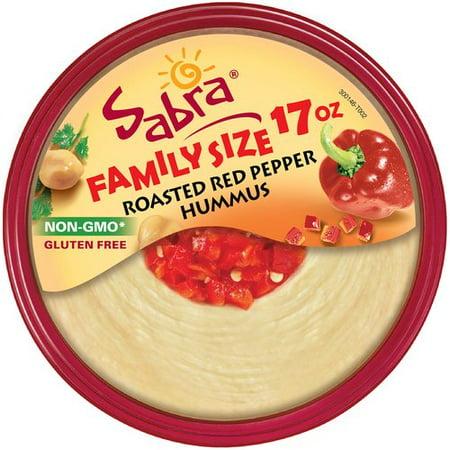 Sabra Roasted Red Pepper Hummus, 17 oz - Walmart.com