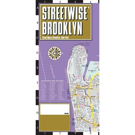 Streetwise Brooklyn Map - Laminated City Center Street Map of Brooklyn, New - Party City Brooklyn New York