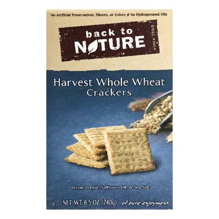 Back To Nature Harvest Whole Wheat Crackers, 8.5 OZ (Pack of
