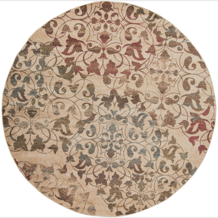 8 39 rustic leaves tan red and brown shed free round area throw rug. Black Bedroom Furniture Sets. Home Design Ideas