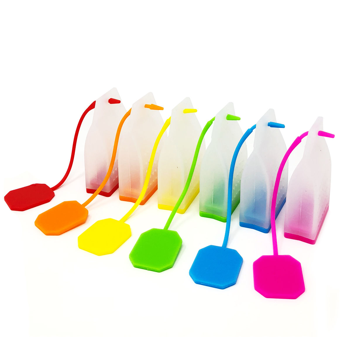 Wrapables® Reusable Silicone Tea Infusers for Loose Leaf Teas Tea Filter Tea Strainer (Set of 6)
