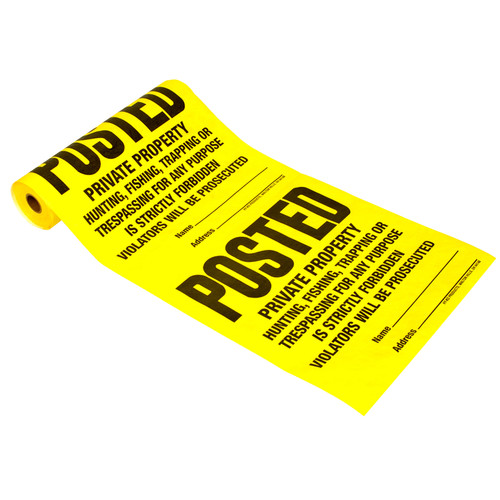 Hy-ko TSR-100 100-Count Posted Sign Roll