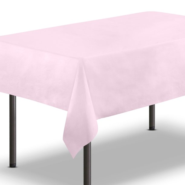 10 Pack Pink Plastic Tablecloth 54 X 108 Inch Rectangle Table Cloth Reusable Cover Disposable Tablecloths Party Decoration Birthday Supplies Outdoor Picnic Camping Baby Shower Wedding Walmart Com Walmart Com