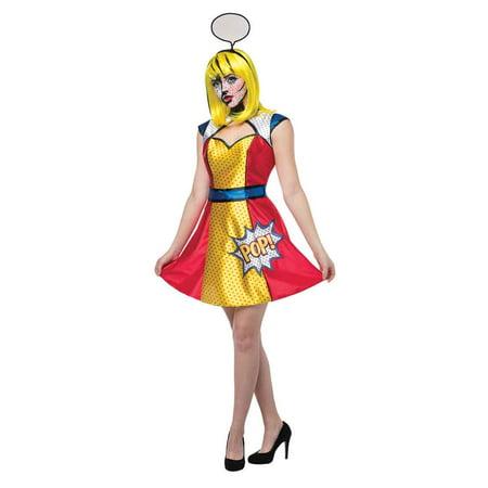 Pop Art Girl Costume (Adult Pop Art Girl Costume by Rasta Imposta)