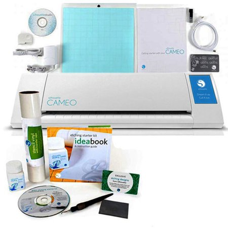 Silhouette Cameo Digital Craft Cutter with Glass Etching Starter Kit