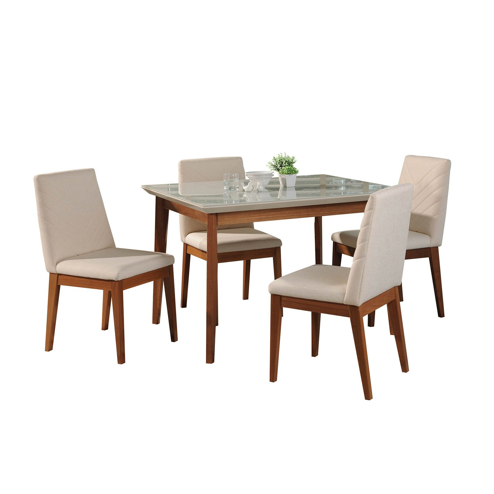 Manhattan Comfort Lillian and Catherine 5 Piece Dining Table Set