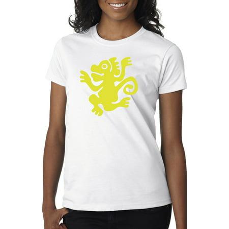 New Way 814 - Women's T-Shirt Legends Hidden Temple LOTHT [Green Monkeys] XS White - Legends Of The Hidden Temple Shirts