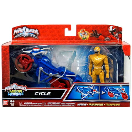 Power Rangers Mega Morph Cycle with Gold Ranger Action - Gold Ranger