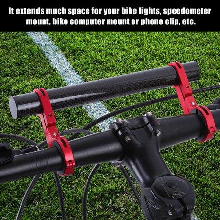- Bicycle Double Handlebar Bracket Extension Mount Holder for Bike Light Flashlight Speedometer, Handlebar Extension Mount,Bike Extension Mount