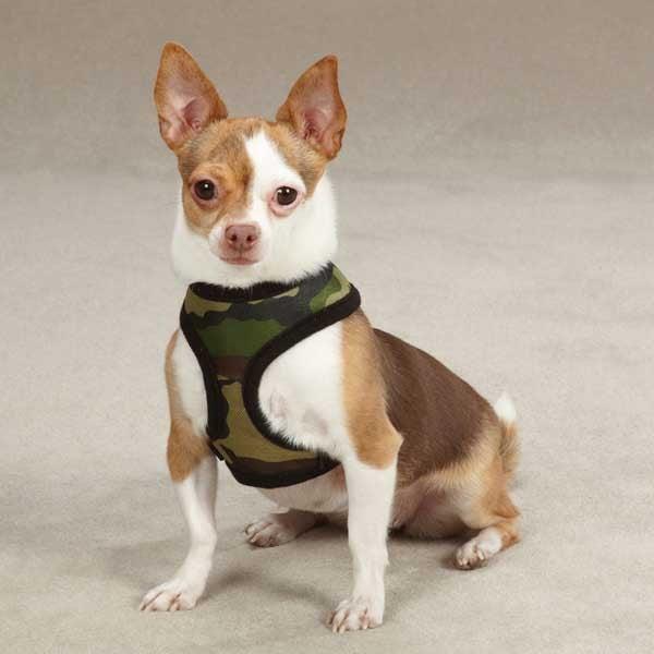 Casual Canine Fabric Camo Harness Xs Pnk