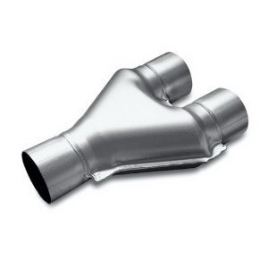 Dual Stainless Pipes - Exhaust Stamped Y Pipe 2.50