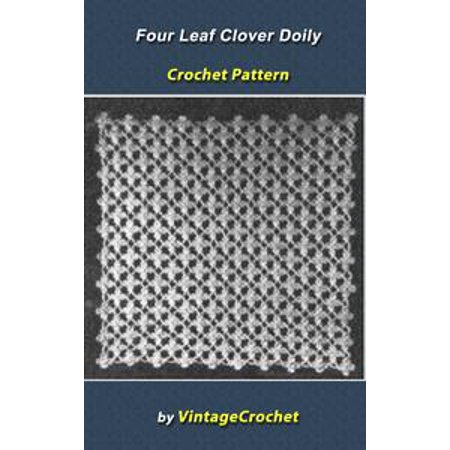 Four Leaf Clover Doily Vintage Crochet Pattern - eBook - Halloween Four Leaf Clover