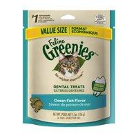 Feline Greenies Dental Cat Treats, Ocean Fish Flavor, 5.5 oz. Pack