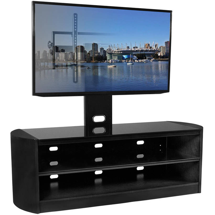 "Kanto MIRAGE 68 Plus TV Stand with Tilt and Swivel Mount for Displays up to 80"", Black"