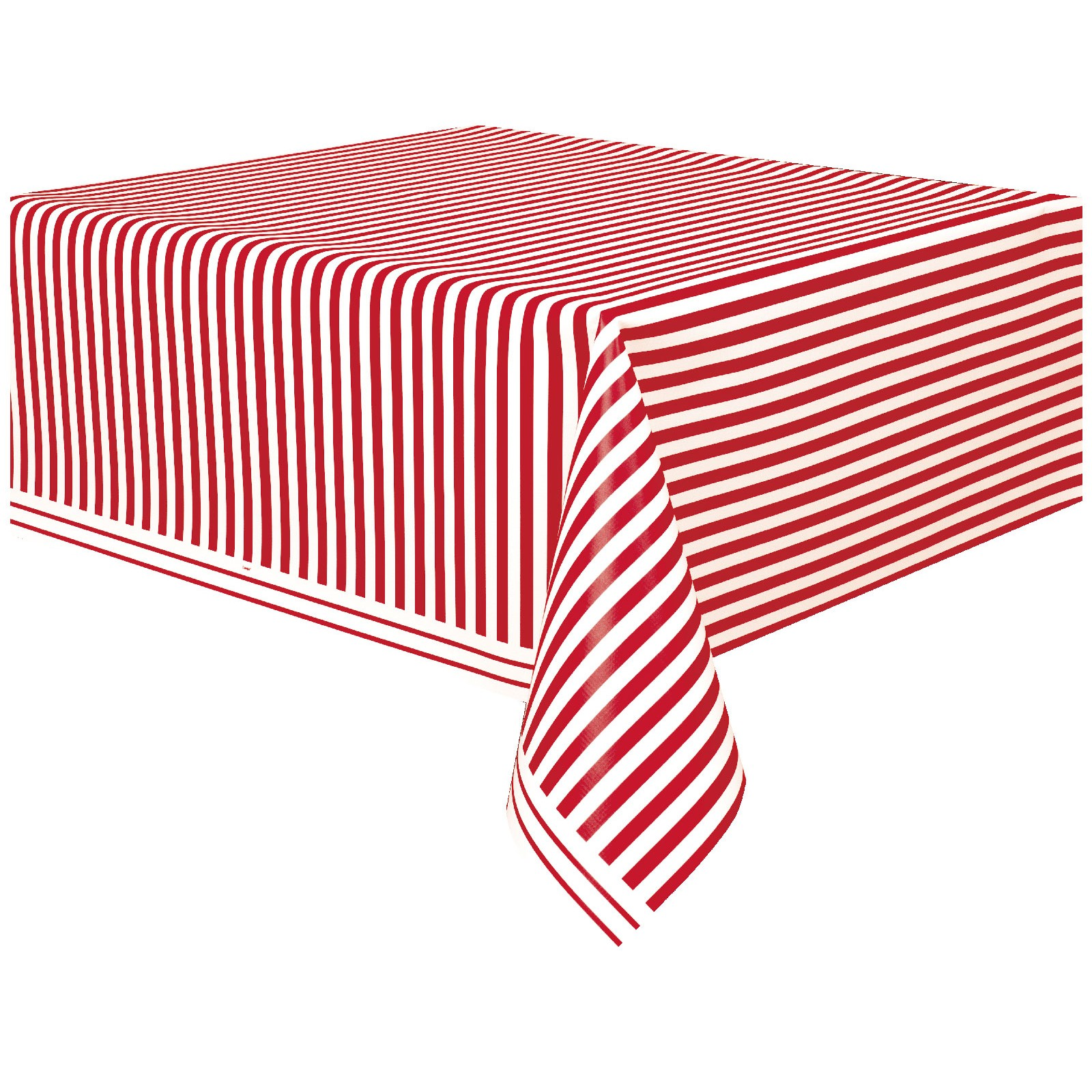 Striped Plastic Tablecover