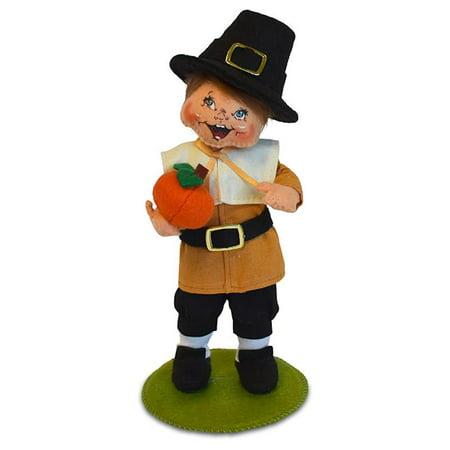 Annalee Dolls 6in 2018 Harvest Pilgrim Boy Kid Plush New with Tags