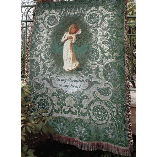 Manual Woodworkers & Weavers Willow Tree Thinking of You Tapestry Cotton Throw