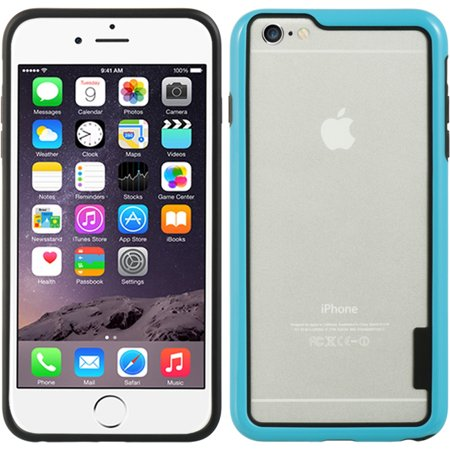 Insten Hard Dual Layer Crystal TPU Cover Case for Apple iPhone 6s Plus / 6 Plus - Blue Apple Iphone Crystal Case