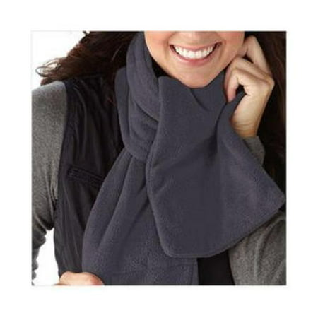 Unisex Fleece Scarf (Cozy Spot Heated Fleece Neck Scarf, Slate)