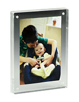 5x7 Solid Copper Picture Frame Landscape Menu Holder Clear Acrylic Home Office