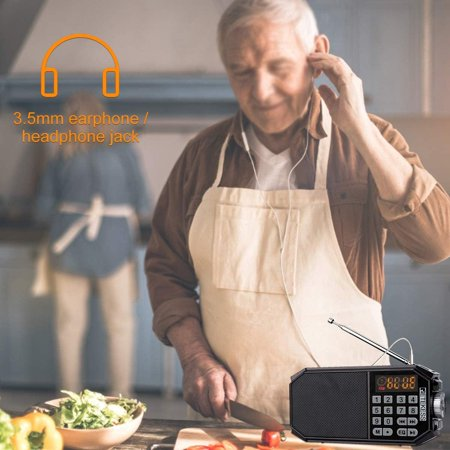 Retekess TR610 Bluetooth Speaker with FM Radio Portable Wireless Speaker MP3 Player Support Handfree Loop Playback - image 4 de 5