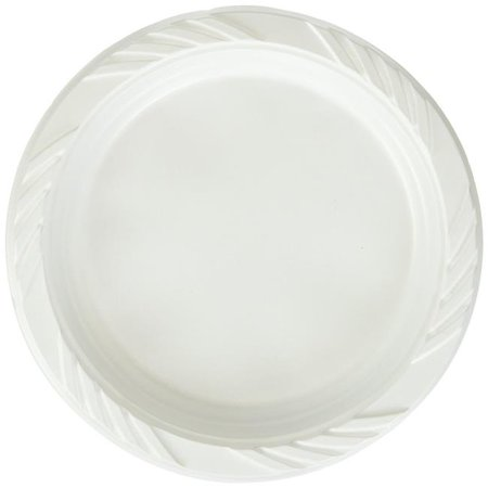 Pactiv YTH100060000 CPC 6 in. Foam White Plate - Case of 1000 - image 1 de 1