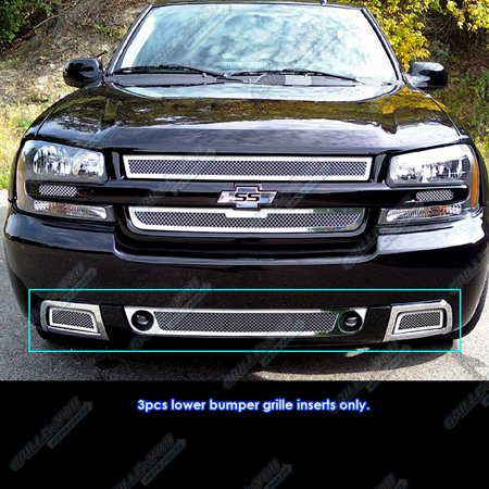 Compatible with 06-09 Chevy Trailblazer SS Lower Bumper Mesh Grille Insert C76469T Aps Ss Wire Mesh