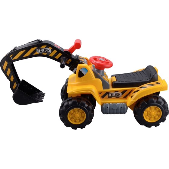 71997b0bd502d Toy Tractors For Kids Ride On Excavator - Music Sounds Digger Scooter  Tractor Toys Bulldozer Includes Helmet With Rocks - Ride On Tractor Pretend  Play ...