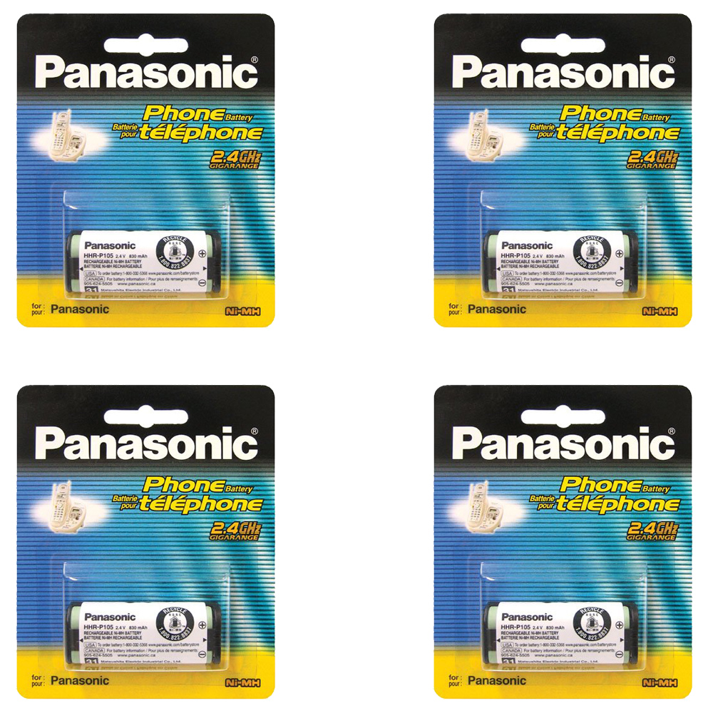 (4 PACK) Panasonic Ni-MH Rechargeable Battery for Cordles...