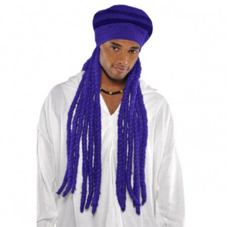 Purple Dread Cap Wig (1ct) - Wig Dreads
