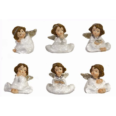 Child Angel Ceramic Figure Collection - By Ganz (6 Pieces)](Ceramic Figures)