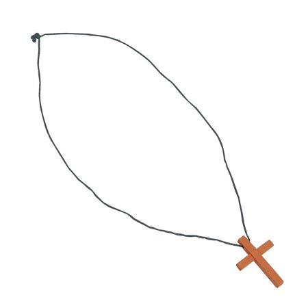IN-24/1250 Wooden Cross - Wooden Cross Necklaces