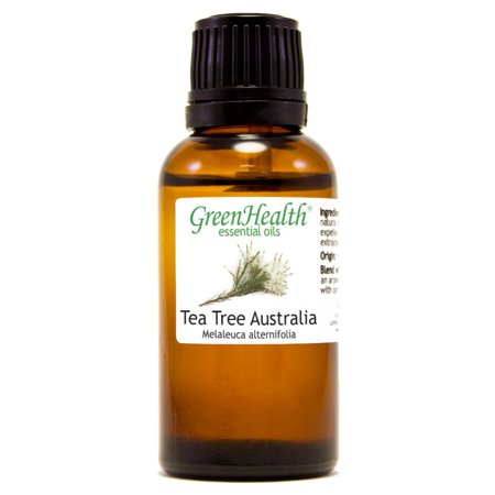 Tea Tree Australia Essential Oil - 1 fl oz (30 ml) Glass Bottle w/ Euro Dropper - 100% Pure Essential Oil by