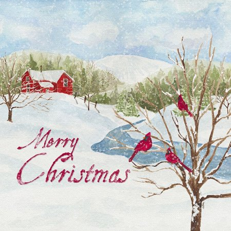 Christmas In The Country Iv Merry Christmas Poster Print by Tara Reed ()