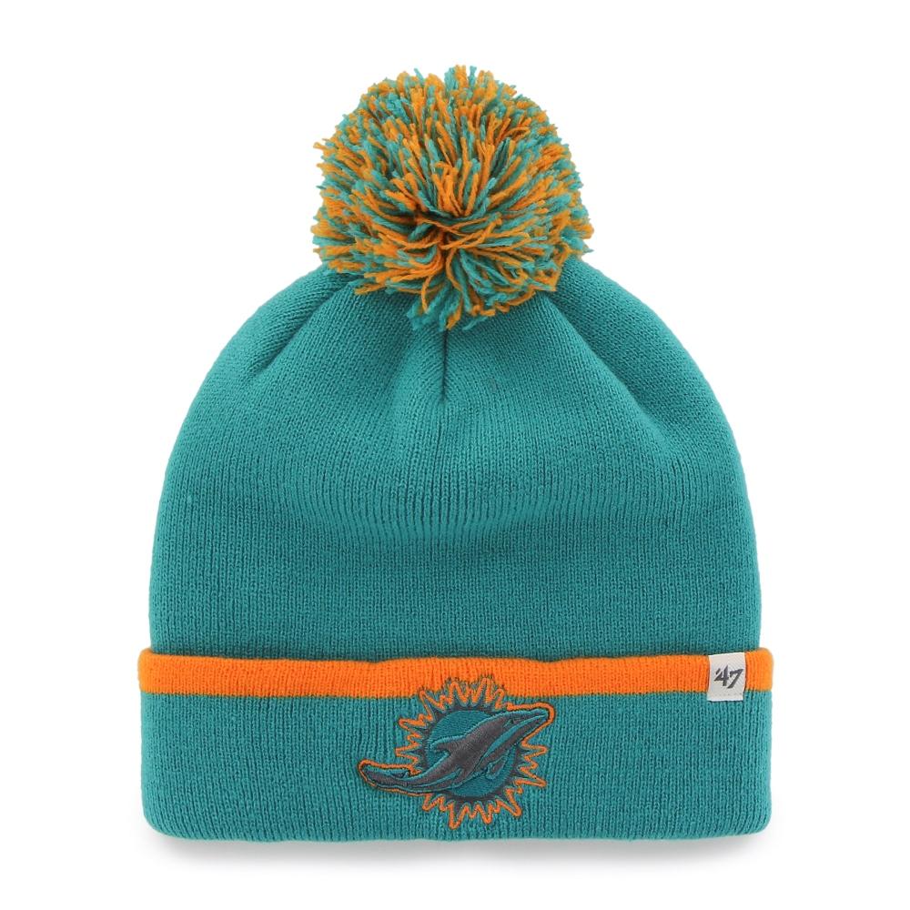 """Miami Dolphins 47 Brand NFL """"Baraka"""" Cuffed Knit Hat with Pom by 47 Brand"""