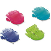 Advantus Fabric Panel Wall Clips, Jumbo Size, Assorted Cool Colors, 10/Box