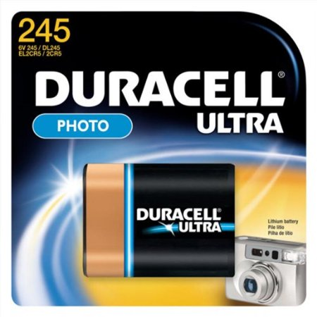Duracell Photo Ultra Lithium Battery (size 245) for film cameras, DL245bpk Lithium Photo Camera Battery